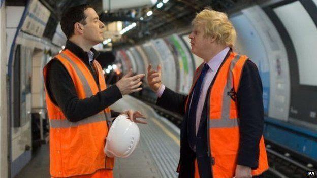 George Osborne and Mayor of London Boris Johnson