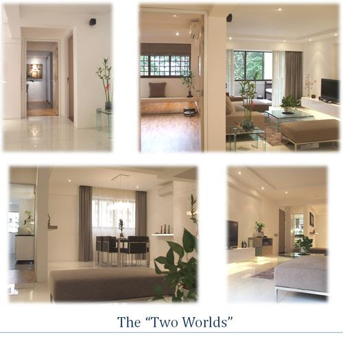 The Two Worlds - Split Images of Different Areas in Reiki Sanctuary