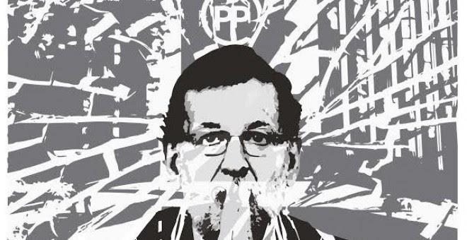 Cartel de la Coordinadora 25S para la convocatoria de concentración 'Ilegalizar el Partido Popular, el partido de la mafia' para el 28 de julio