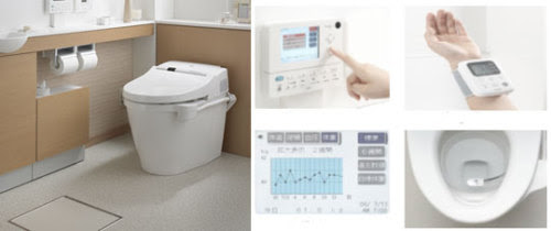 Japanese toilet sensors that transmit hormonal analysis to your PC
