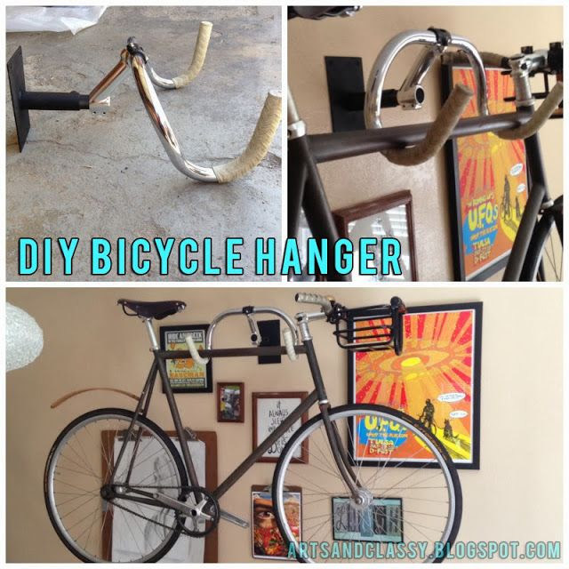 Diy Home decor ideas on a budget. : DIY Creative Bicycle Hanger Simple Storage Solution