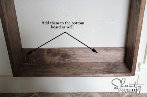 Hanging the bathroom shelf