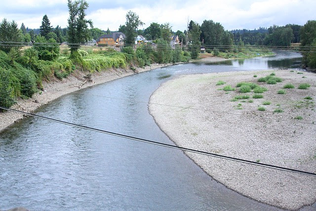 Clackamas River from John McLoughlin Bridge