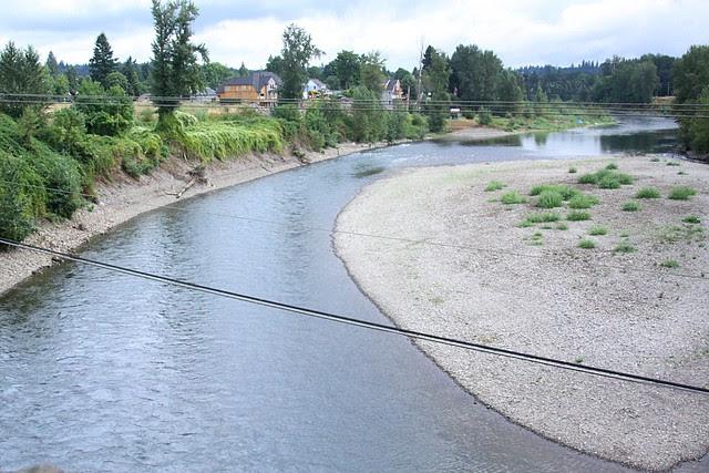 Clackamas River from John McLoughlin Bridge