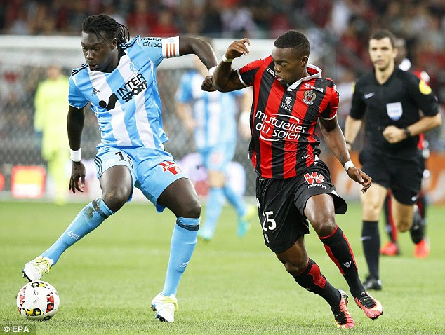 Wylan Cyprien scored the winner for Nice with a shot from outside the penalty area