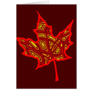 Fire Leaf Greeting Cards