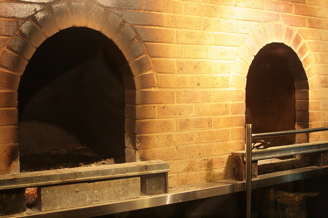 Specially built ovens for roasting the Peking duck