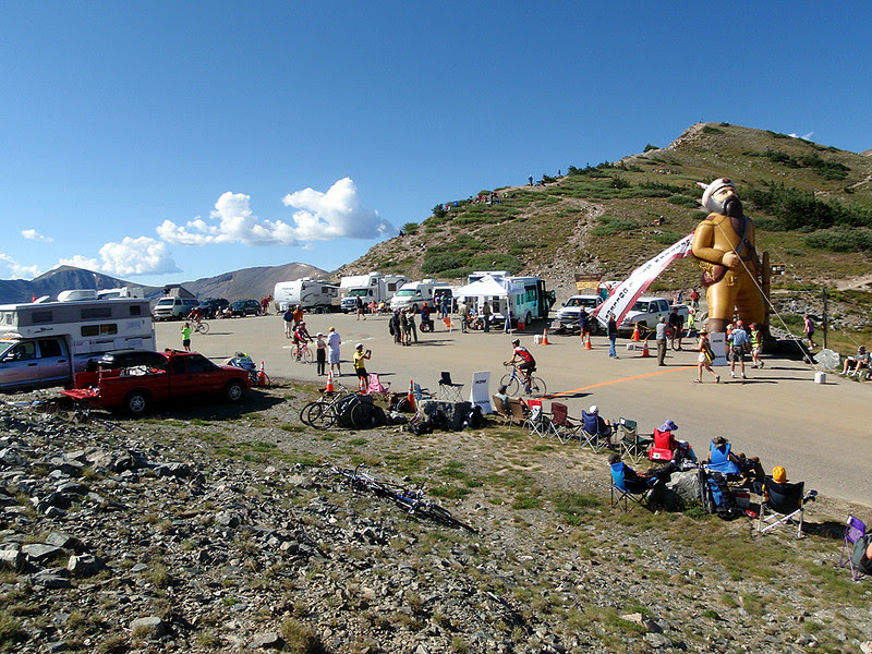 The summit of Cottonwood Pass several hours before the 2011 USA Pro Cycling Challenge rolled over the top.