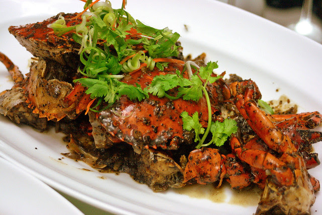 Fiery hot black pepper crab