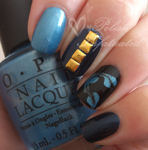 blue, studs and drag marbling