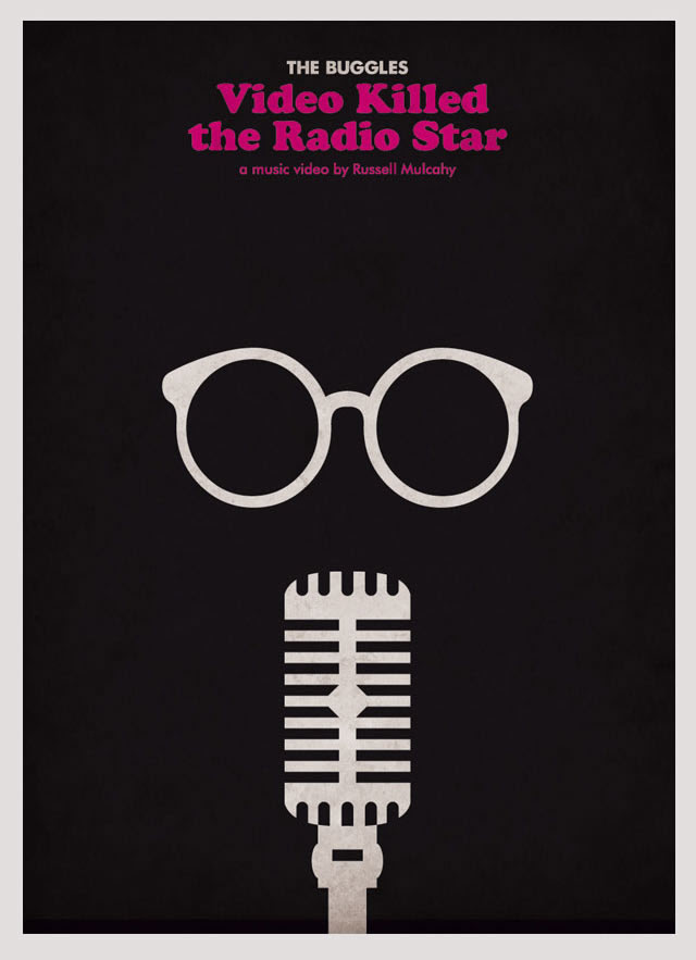 The Buggles Video Killed the Radio Star Minimalist Poster