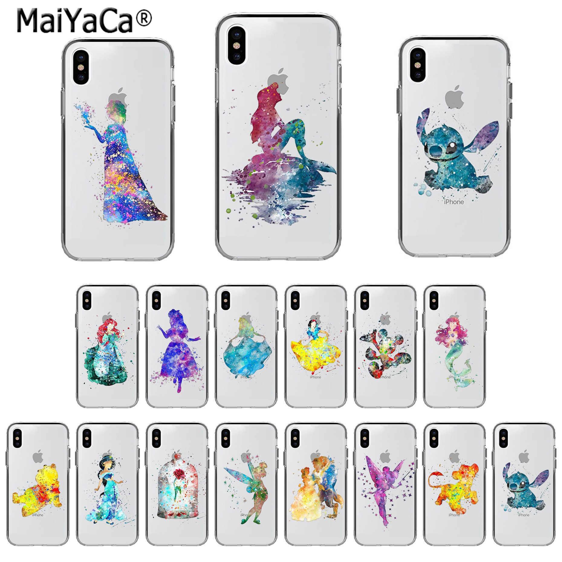 Maiyaca アート白雪姫シンデレラ人魚獣電話ケース Iphone 11 プロ X Xs