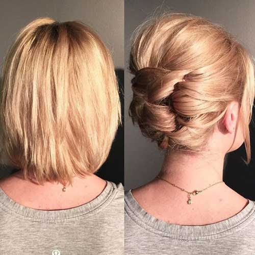 Most Attractive Short Hairdos for Parties Short