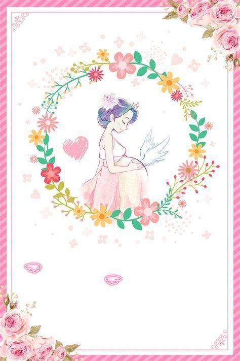 A Beautiful Warm Prenatal Pregnant Yoga Poster Background