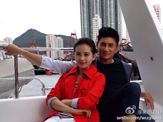 Cecilia Liu (劉詩詩) and Nicky Wu (吳奇隆) dating