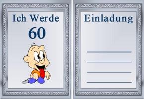 Einladungskarte 60 Geburtstag