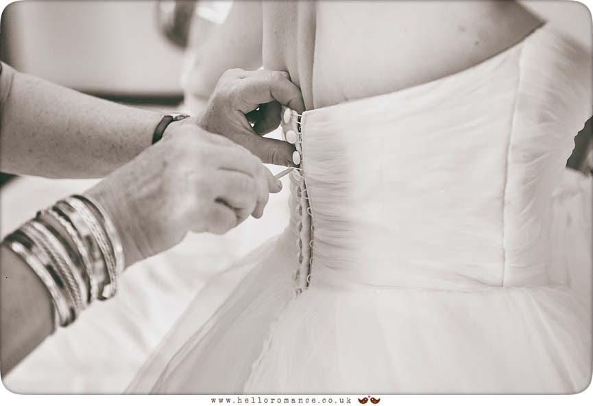Beautiful back of wedding dress - www.helloromance.co.uk