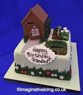 Garden Shed Allotment Birthday Cake   Imaginative Icing