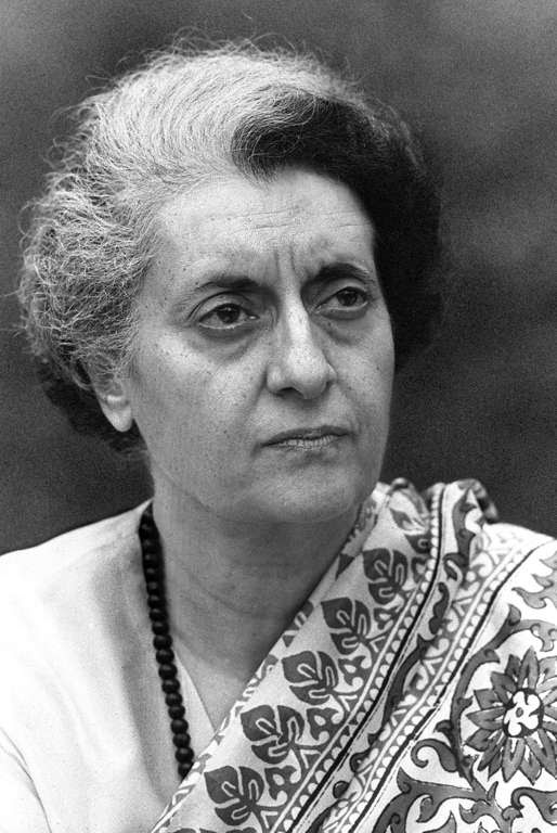 NEW DELHI, INDIA - JANUARY24:  A photo dated 24 January 1976 of Indira Gandhi, Prime Minister of India in 1974.  (Photo credit should read STF/AFP/Getty Images)