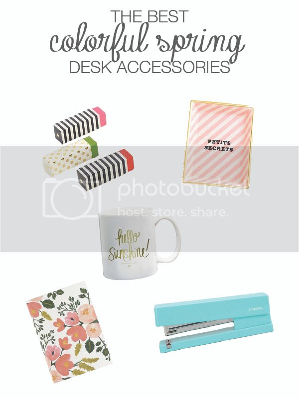 colorful spring desks accessories