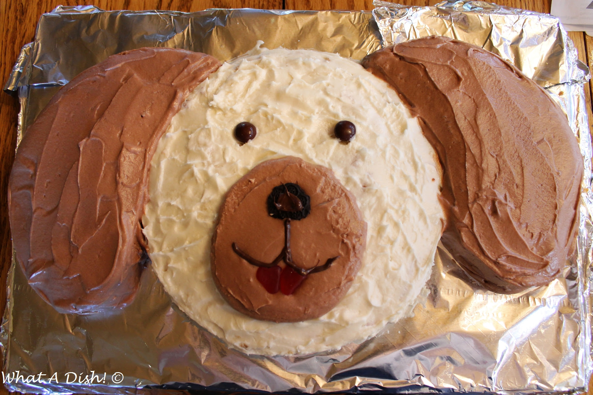 What A Dish Puppy Dog Birthday Cake