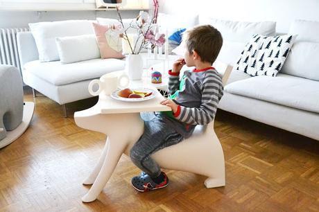 Kinder Tisch + Stuhl in einem