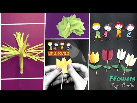 3 easy flowers origami simple paper crafts origami for kids 3 easy flowers origami simple paper crafts origami for kids little soldiers mightylinksfo