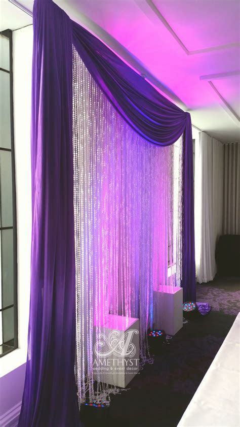 Purple Crystal Backdrop with Lights   more info>>