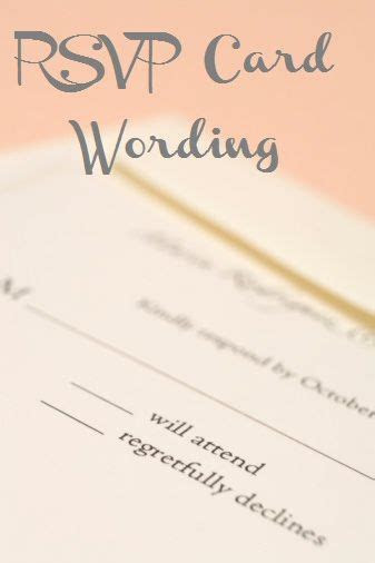 Learn How to Word Your Wedding RSVP Cards   Wedding