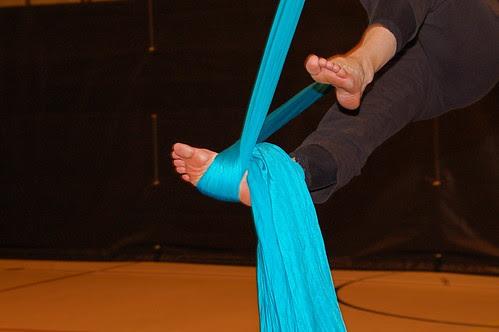 Aerial Silk Foot Lock