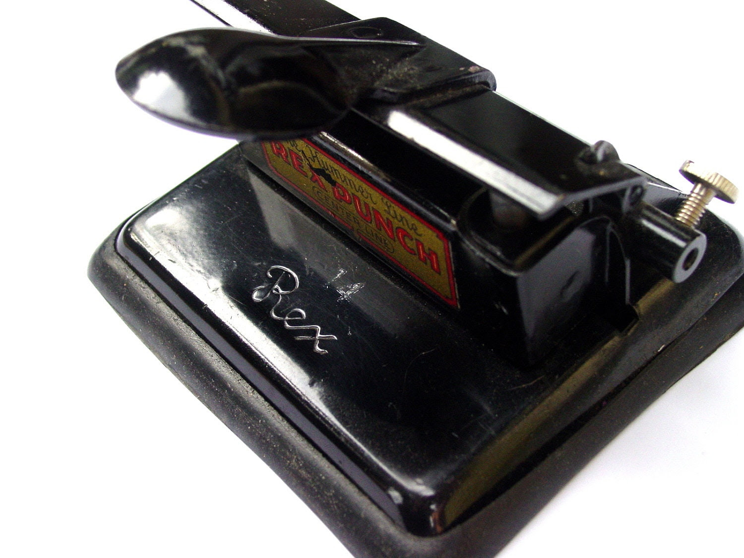 Hummer Line Rex Double Hole Punch, Vintage Industrial Desk  or  Office Tool