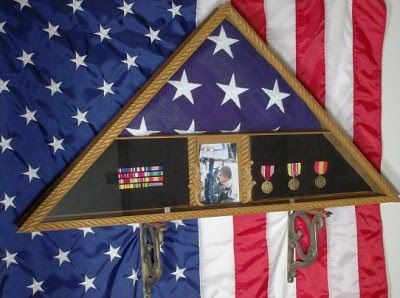Flag Case Military Memorial Flag Display Cases For Folded Flags