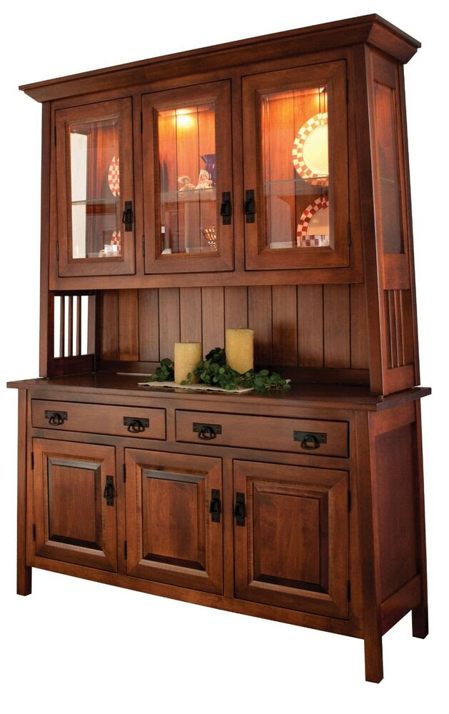 Amish Dining Room Mission Hutch Buffet Server China ...