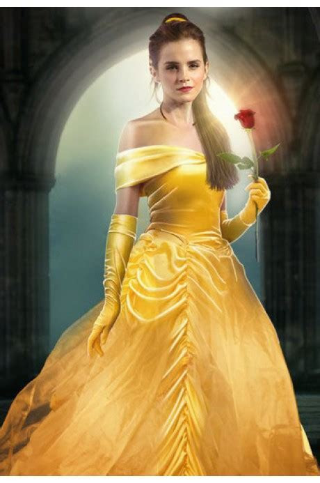 Emma Watson Movie Beauty and the Beast Yellow Off The