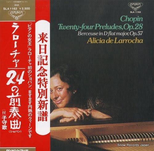 LARROCHA, ALICIA DE chopin; twenty-four preludes, op.28