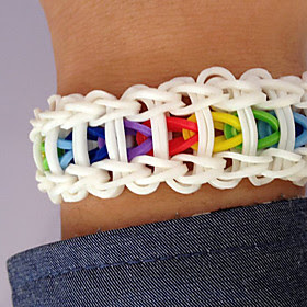 Rainbow Loom Kit Diy Bracelet(600 PCS,With S-Clips or C-Clips,1 Specification,1 Crochet Needle)