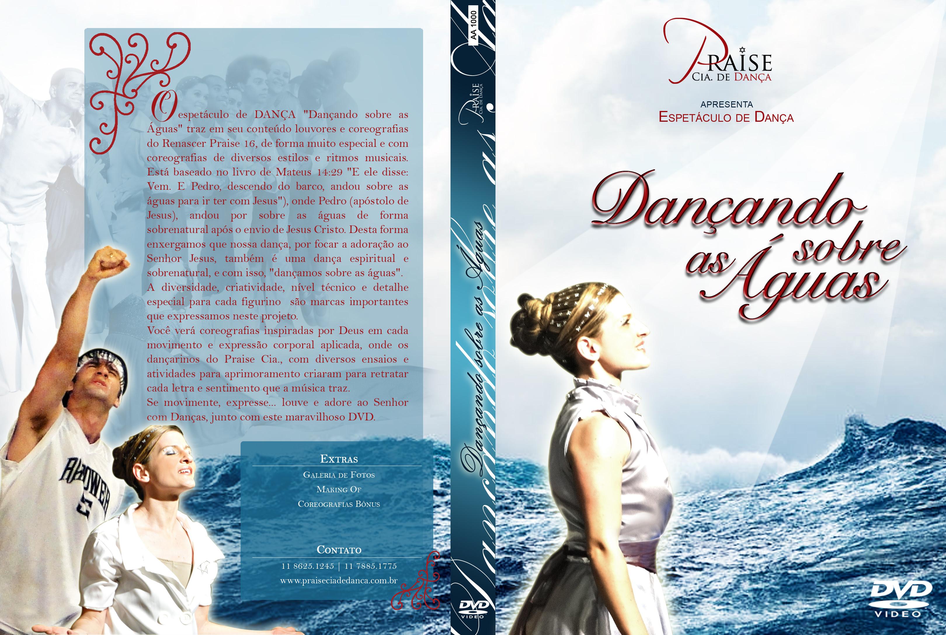 DVD Dançando sobre as aguas (Praise Cia de Dança)