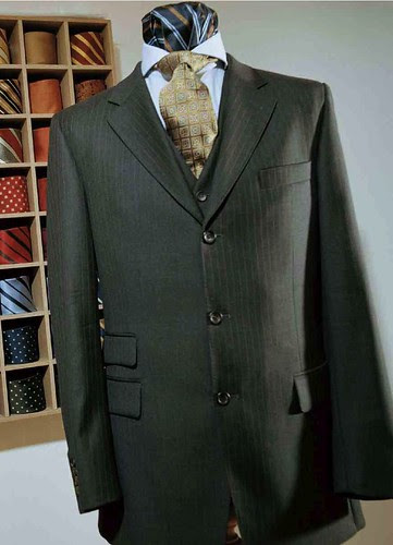 Knize gray pinstripe 3 button
