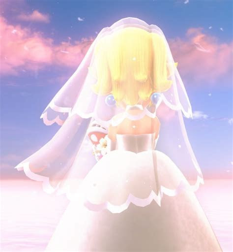 Another look at Peach's wedding dress in Super Mario