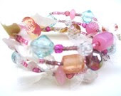 Pastel Memory Wire Bracelet - odile123