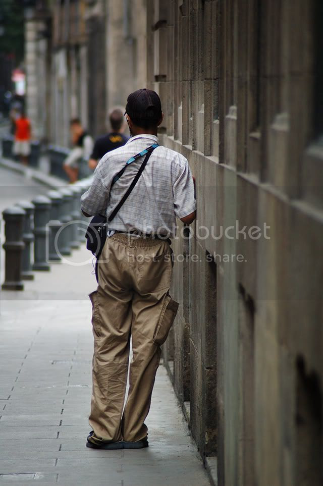 Man Leaning on Wall, Barcelona [enlarge]