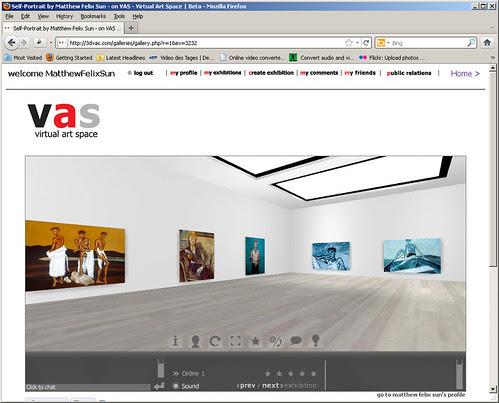 3Dvas Self-Portrait Paintings Gallery 1