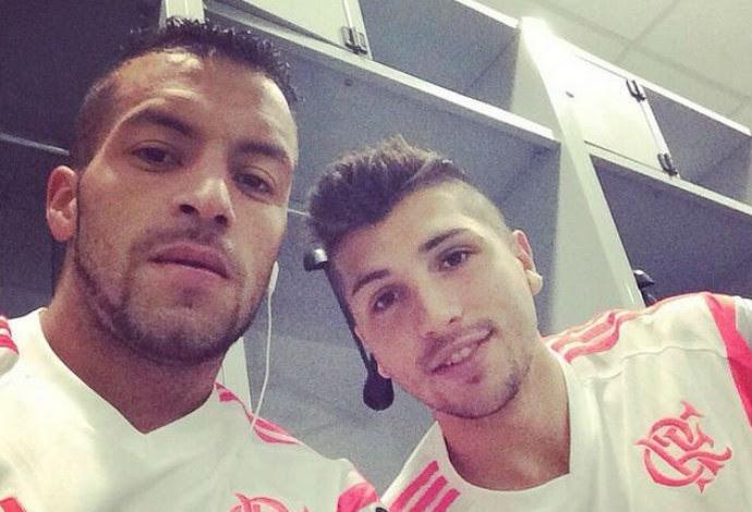 Canteros e Lucas Mugni flamengo (Foto: Reprodução/Instagram)