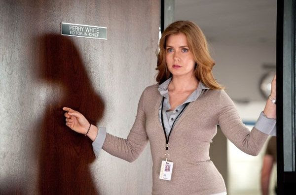 Lois Lane (Amy Adams) wants to discover Superman's true identity in MAN OF STEEL.