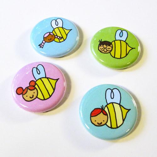 Honey's Salon Bee Badges 6