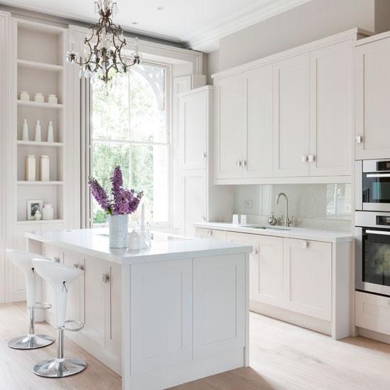 kitchen in white 2017 - Grasscloth Wallpaper