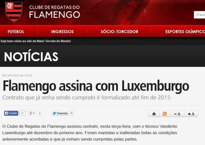 Flamengo anuncia renovação de Luxemburgo (Foto: Reprodução)