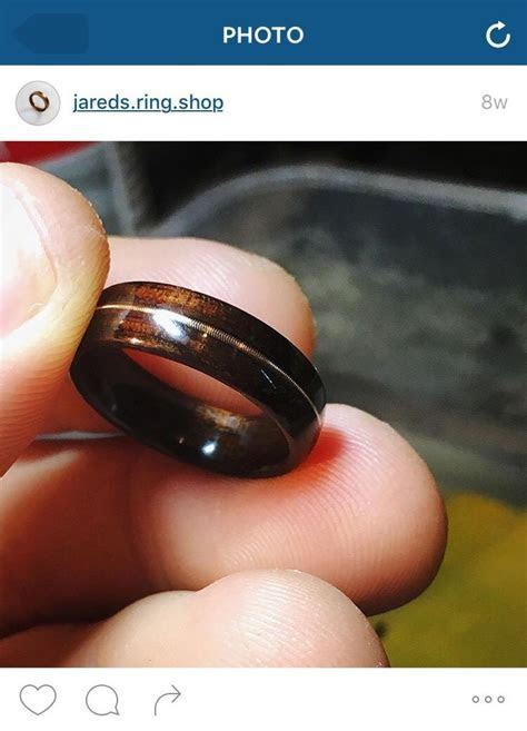 Unique men's wedding band/ ring if your husband plays a