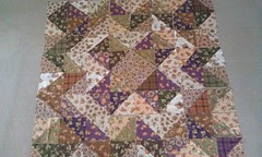 harvest hst quilt: layout 3