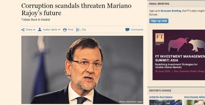 Mariano Rajoy Financial Times